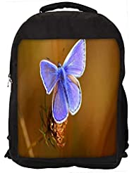 """Snoogg Unique Butterfly Casual Laptop Backpak Fits All 15 - 15.6"""" Inch Laptops"""