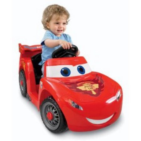 Fisher-Price Power Wheels Lightning McQueen 6-Volt Battery-Powered Ride-On (Ages 12 mos - 3 years) / Lightning McQueen 6-Volt Battery-Powered Ride-On has a maximum speed of 2 mph (Battery Powered Baby Cars compare prices)