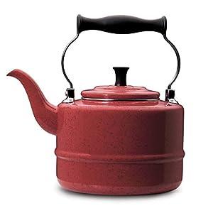 Signature Teakettles 2-quart Red Speckle Traditional Teakettle, Serve everyone's favorite hot beverages.