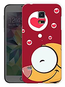 """Humor Gang Dog In Red Heart Printed Designer Mobile Back Cover For """"Samsung Galaxy S5 Mini"""" (3D, Matte, Premium Quality Snap On Case)"""