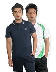 Nitrite Sports Polo Half Sleeves Mens Performance Tshirt Pack Of 2| NTP2O18