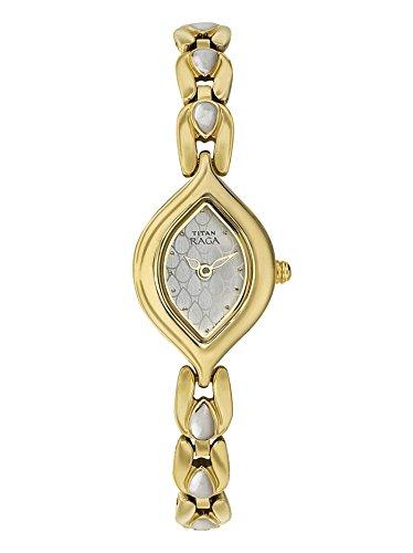 Titan Raga White Dial Gold Strap Analog Watch For Women - 2012YM05