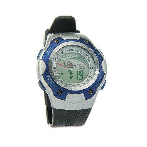 8Years - 1 Digitaluhr Armbanduhr Watch Stoppuhr Wasserdicht Blau