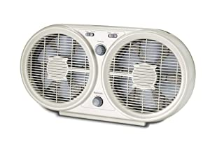 Holmes Twin Window Fan with Washable Filter, HAWF2048-U