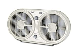 Holmes Twin Window Fan with Washable Filter, HAWF2048-U