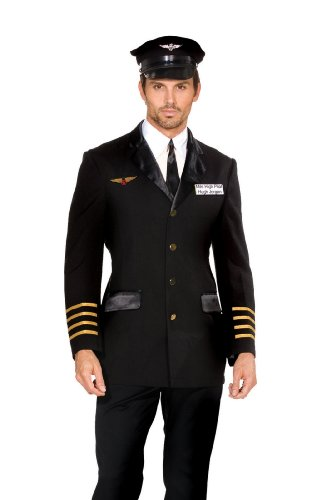 Dreamguy Men's Airline Captain Mile High Pilot Hugh Jordan Costume