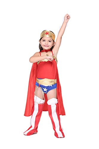NonEcho Halloween Superhero Costumes for Girls Kids Outfit
