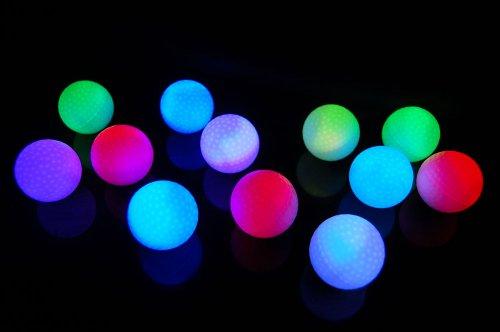 Set Of 12 Litecubes Rainbow Light Up Led Golf Balls (Drink Novelty)