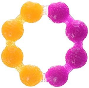 Munchkin Fun Ice Soothing Ring Teether, Colors May Vary