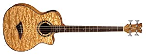 Dean Guitars Exotica Quilt Ash A/E Bass GN with Aphex 4-Strings Acoustic-Electric Bass Guitar by Dean Guitars