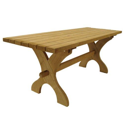 Nowy Targ Spruce Wood Garden Table - Rectangular