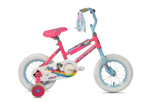 Kent Girl's Best Friends Panda Bike (Pink/Blue, 12-Inch)