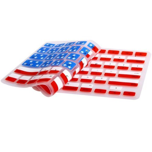 "Carry360 Durable Usa Flag Pattern Soft Tpu Ultrathin Keyboard Silicone Skin Cover For Macbook Pro 13"" Air 13"", Retina 13""(American Flag Design)"