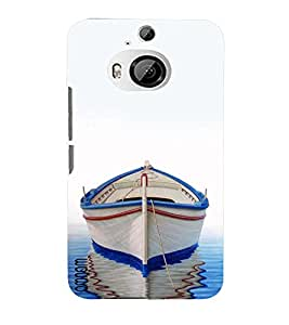 Omnam Boat Painted In Water With Shadow Designer Back Cover Case For HTC One M9 Plus