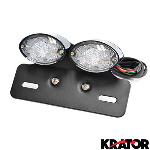Krator® Custom LED License Plate Taillight Turn Signals For Honda VTX 1300 1800 Valkyrie Rune 1500