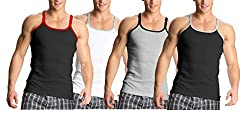 Jockey Metro Fashion Vests - Assorted Pack of 4 (X-Large)