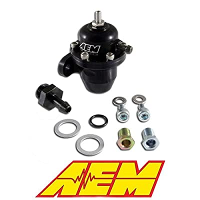 AEM 25-302BK Black High Volume Adjustable Fuel Pressure Regulator