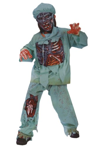 boys - Child Zombie Doctor Md Halloween Costume - Child Medium