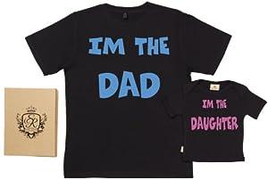 Spoilt Rotten - I'm Dad I'm Daughter - 100% Bio-algodón - T-Shirt Box Regalo Set en BebeHogar.com