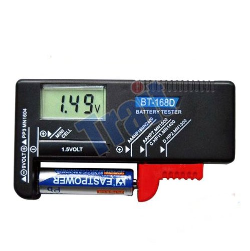 niceEshop(TM) BT-168D Digital Handheld Battery Volt Tester/Checker For Button Cell Battery AAA / AA / 9V / 1.5v