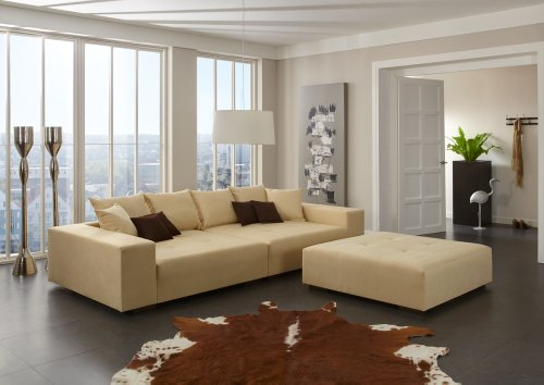 big sofa made in germany bezug noble lux freie farbwahl ohne aufpreis aus ca 70 farben nahezu. Black Bedroom Furniture Sets. Home Design Ideas