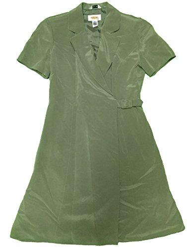talbots-petites-womens-pure-silk-lined-dress-size-2-green