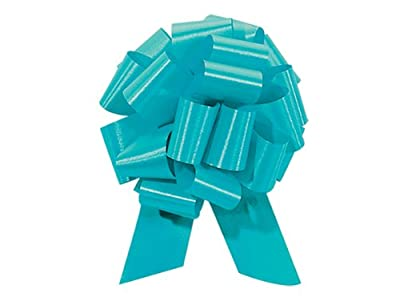 Pull String Bows 5.5 Inch Turquoise Blue - 20 Loops