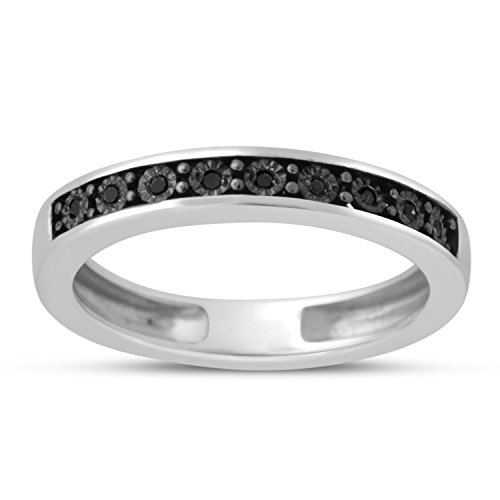 005-CTTW-Sterling-Silver-Black-Diamond-with-illusion-plate-band