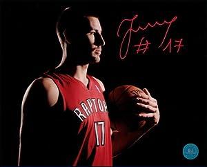 JONAS VALANCUINAS Toronto Raptors SIGNED 16x20 Photo by AJ Sports World