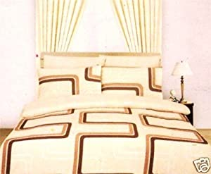 King Duvet Cover With Valance Sheet And 2 Pillowcases Natural