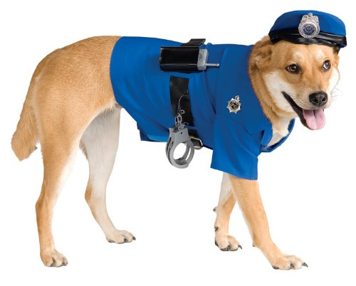 Police Dog Pet Costume, Large - 1