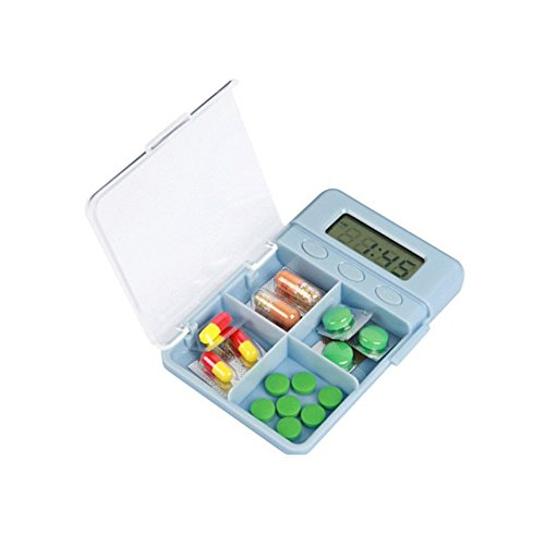 Generic Cy-535 Four Grid Is Simple And Easy To Carry Electronic Pill Box Medication Reminder Pill Box Timer.