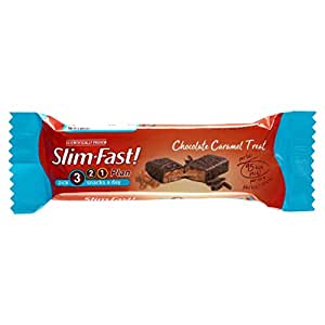 SlimFast Snack Bar Chocolate Caramel Treat 26 g - Pack of 24