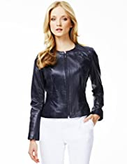 Autograph Leather Zipped Jacket