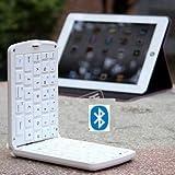 TOP Quality android tablet external keyboard, ipad rubber bluetooth keyboard, midi keyboard, mini keyboard, external keyboard for mobile phone, bluetooth keyboard for android in White, 6~8 DAYS DELIVERY