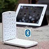 TOP® Quality Wireless Bluetooth keyboard for galaxy note 2, Note II in WHITE, Foldable Wireless Keyboard with Multi Color Options, bluetooth keyboard for galaxy note, Folding keyboard plate, bluetooth keyboard for samsung galaxy note N7100, wireless keyboard for android, 6~10 DAYS DELIVERY to USA!