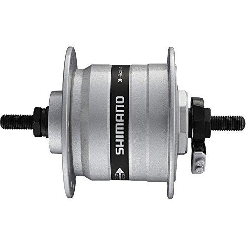 Shimano VR-Nabendynamo DH3N31ESG 100mm 32 Loch Vollachse silber Fahrrad