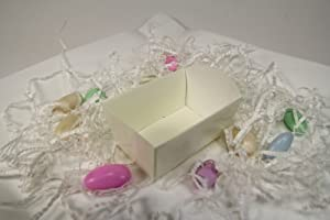 Party Favor Tray-Like Boxes- 2.75 x 1.75 x 1.75 Inches X 25 Pieces (Ivory)