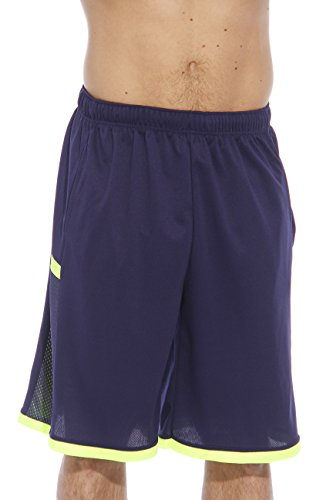 77923-Navy-M At The Buzzer Athletic Basketball Shorts for Men (Basketball Clothing compare prices)