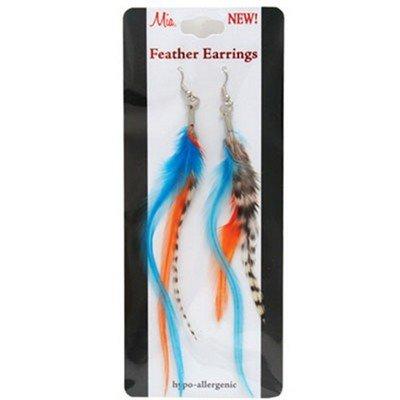 Mia Feather Earrings, Multi-Colored, 1 Ounce