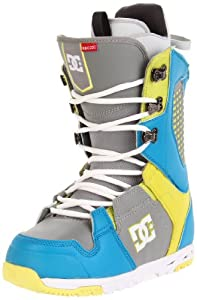 DC Men's Ceptor 2012 Performance Snowboard Boot,Blue/Yellow/Grey,9 M US