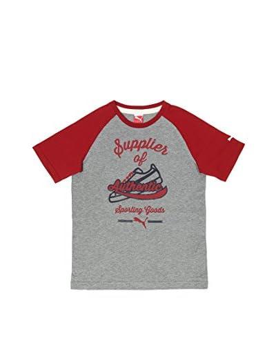 Puma T-Shirt Athletics [Grigio/Rosso]