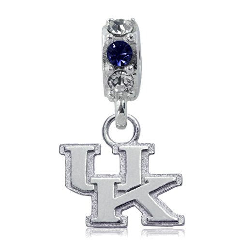 NCAA Kentucky Wildcats .925 Sterling Silver Spirit Charm Bead, Kentucky Jewelry
