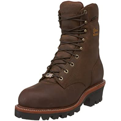 "Chippewa Men's 25405 9"" Waterproof Steel-Toe Super Logger Boot,Bay Apache,6 EEE US"