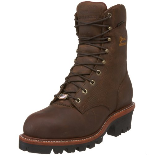 "Chippewa Men's 25405 9"" Waterproof Steel-Toe Super Logger Boot,Bay Apache,8 E US"
