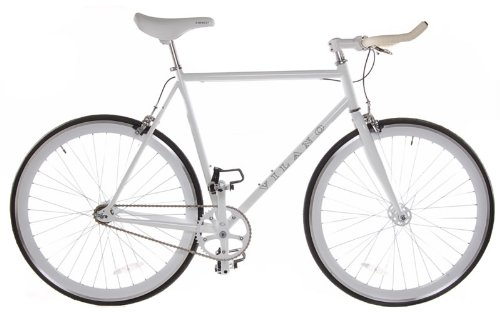 Vilano Edge Fixed Gear Fixie Single Speed Bicycle, White, 58cm