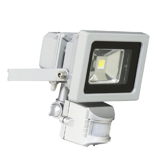 XQ-lit XQ1162 - Lampada LED da esterni con sensore di movimento, 10 m x 180°