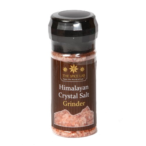 The Spice Lab's X-Large 1 Lb Himalayan Pink Salt GRINDER - Natural and Kosher Certified