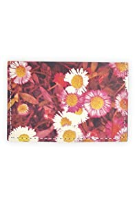 Fluffy Co Daisies Leather Card Case