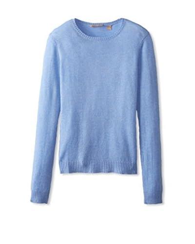 Cashmere Addiction Women's Long Sleeve Crewneck Sweater
